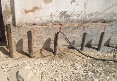 Micropali, pali e muri di sostegno